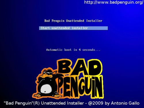 Bad Penguin's syslinux custom logo